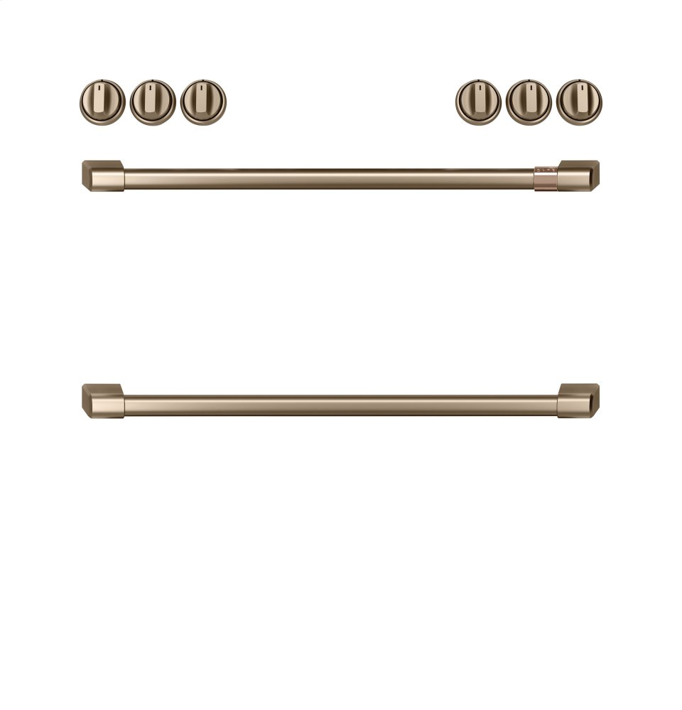 Caf(eback) Front Control Gas Knobs and Handles - Brushed Bronze