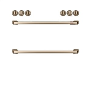 GEFront Control Gas Knobs and Handles - Brushed Bronze