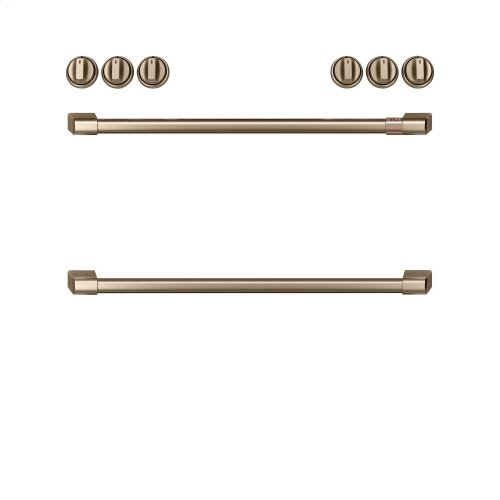 Café Front Control Gas Knobs and Handles - Brushed Bronze