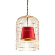 Sprite Ceiling Lamp Large Gold & Red