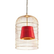 Sprite Ceiling Lamp Large Gold & Red Product Image