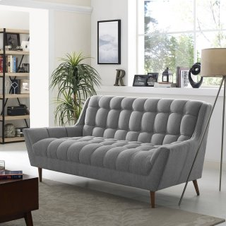 Response Upholstered Fabric Loveseat in Expectation Gray