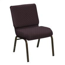 Wellington Cadet Upholstered Church Chair - Gold Vein Frame