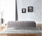 Emerald Home Lacey Upholstered Bench Gray B132-36-05 Product Image