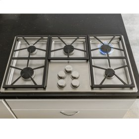 "Distinctive 30"" Gas Cooktop,, in Black with Natural Gas High Altitude"