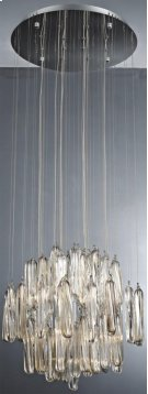 Crystal Ceiling Lamp, Chrome/crystals, Type Jc/g4 20wx12 Product Image