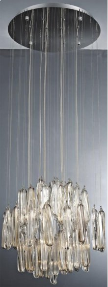 Crystal Ceiling Lamp, Chrome/crystals, Type Jc/g4 20wx12