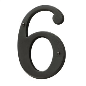 Oil-Rubbed Bronze House Number - 6
