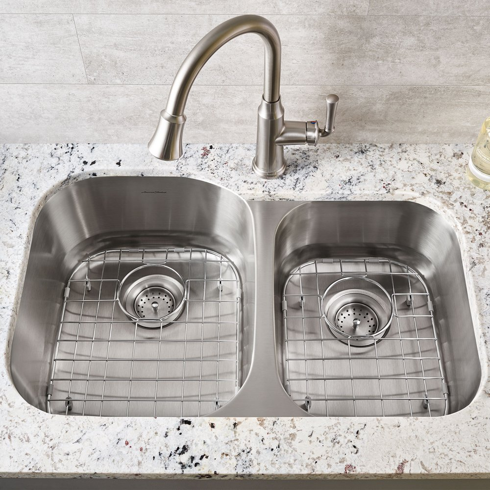 portsmouth right bowl stainless steel kitchen sink grid american standard   stainless steel 8446312000s075 in stainless steel by american standard in      rh   activeplumbing com