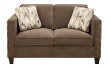 Loveseat Chocolate W/2 Accent Pillows