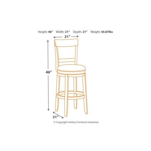 Tall UPH Swivel Barstool(2/CN)