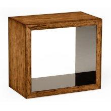 Argentinian Walnut & Black Glass Side Table