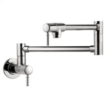 Chrome Talis C Pot Filler, Wall-Mounted