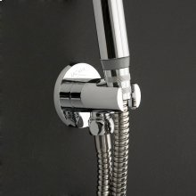 Water intake with a hook for hand-held shower head