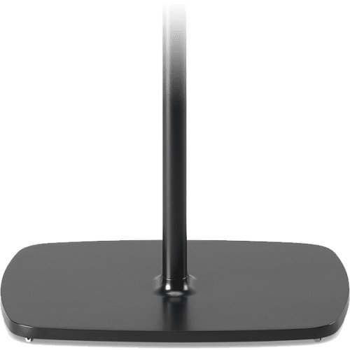 Black- Pair of secure floor stands for home theatre surrounds.