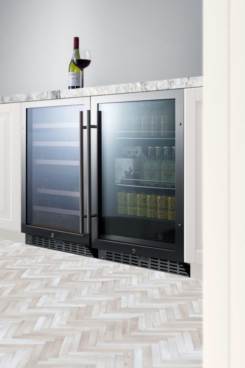 Built In Undercounter Beverage Refrigerator With Seamless Trimmed