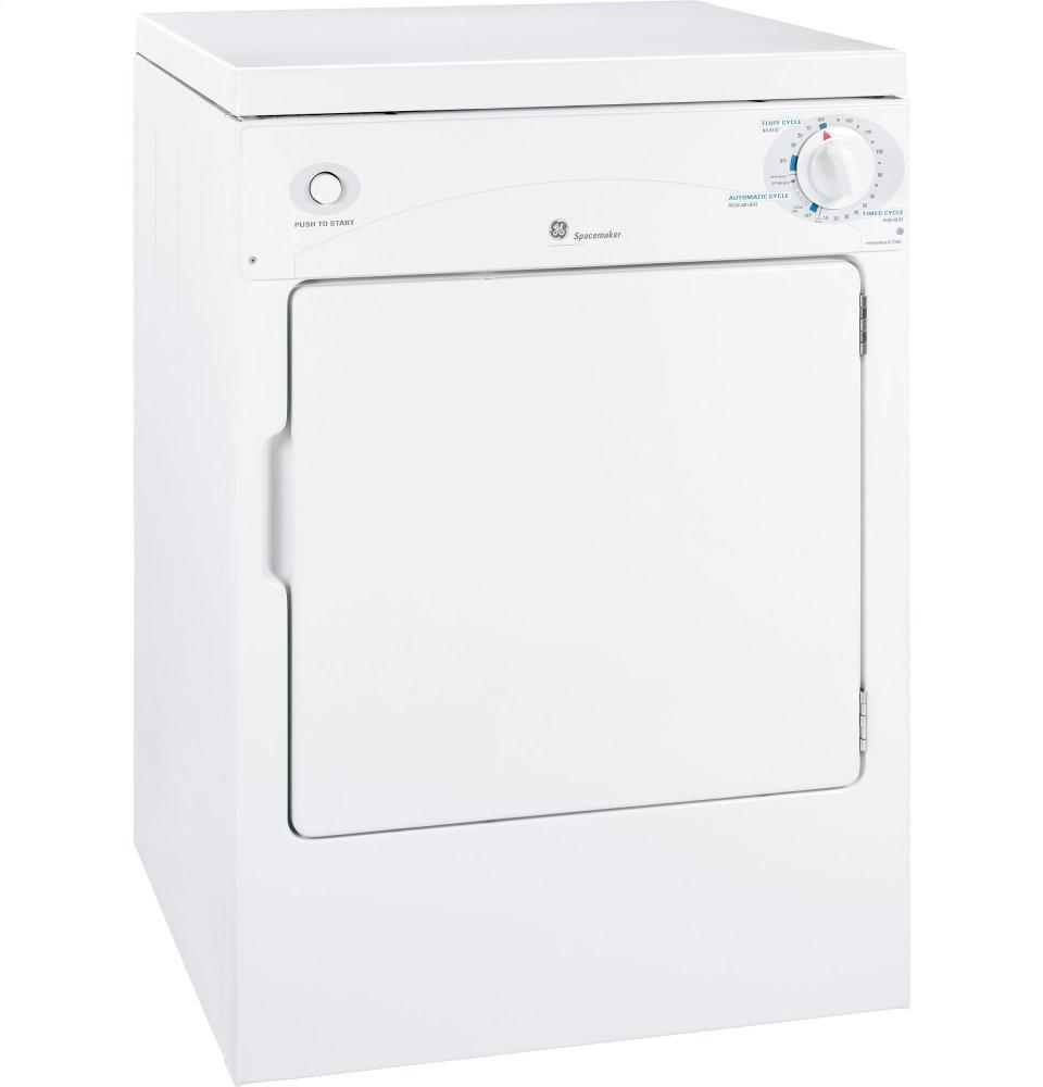 GE Spacemaker(R) 120V 3.6 cu. ft. Capacity Portable Electric Dryer  WHITE ON WHITE