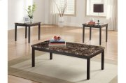3-Piece Occasional Tables with Faux Marble Top Product Image