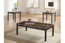 3-Piece Occasional Tables with Faux Marble Top
