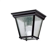 "7.25"" 1 Light Flush Mount Black"