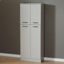 4-Door Storage Pantry - Soft Gray