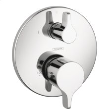 Chrome Thermostatic Trim S/E with Volume Control and Diverter
