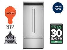 """36"""" Built-in Refrigerator/Freezer with French Door"""