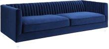 Aviator Navy Velvet Sofa