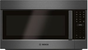 "800 Series 30"" Over-the-Range Convection Microwave, HMV8044U, Black Stainless Steel Product Image"