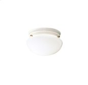 Ceiling Space Collection Flush Mt 1Lt WHT