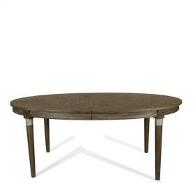 Joelle Oval Dining Table Carbon Gray finish