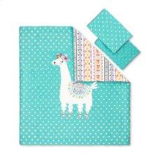 Kids Comforter and Pillowcase Festive Llama - 54''