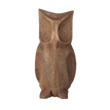Small Hand Carved Wood Owl.