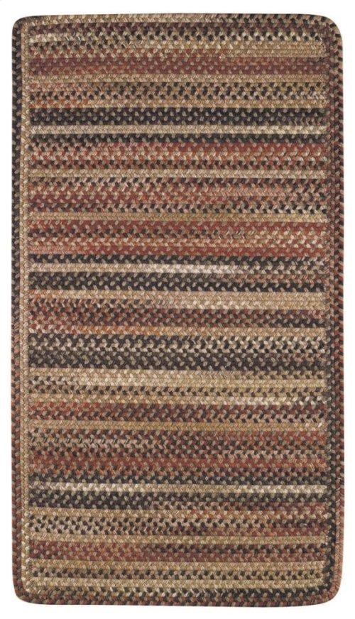 Homecoming Chestnut Brown Braided Rugs (Custom)