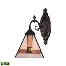 Mix-N-Match 1 Light LED Wall Sconce In Tiffany Bronze