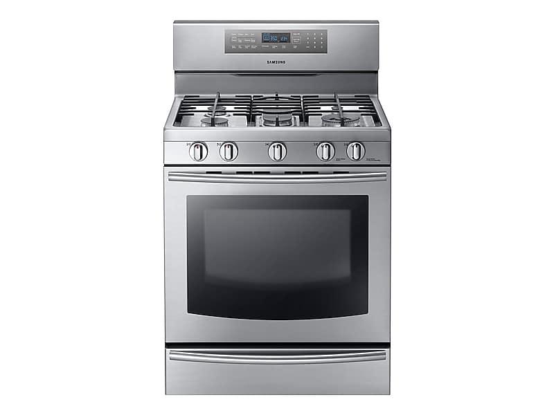 Nx58f5700ws Samsung Appliances 5 8 Cu Ft Gas Range With
