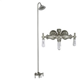 Tub Filler with Diverter - Sunflower Shower Head - Brushed Nickel