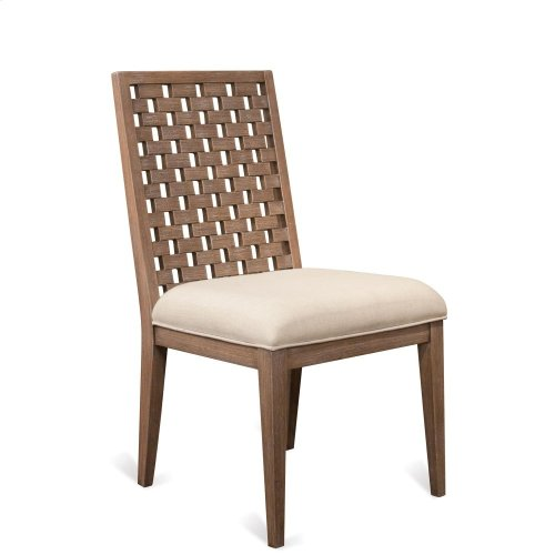 Mirabelle - Block Back Upholstered Side Chair - Ecru Finish