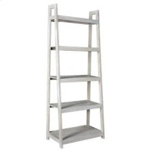 Bengal Manor Acacia Wood White Wash Angled Etagere