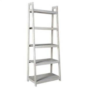 CRESTVIEW COLLECTIONSBengal Manor Acacia Wood White Wash Angled Etagere