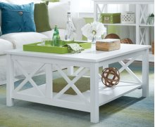 Square Coffee Table Pure White