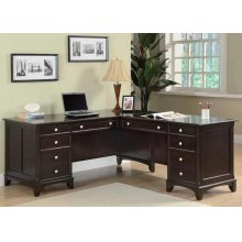 Garson Cappuccino L-shaped Office Desk