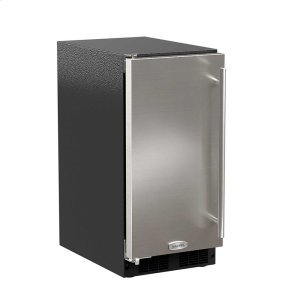 Marvel15-In Low Profile Built-In Clear Ice Machine With Arctic White Illuminice with Door Style - Stainless Steel, Door Swing - Left, Pump - No