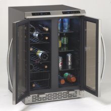 Model WBV19DZ - Side-by-Side Dual Zone Wine/Beverage Cooler