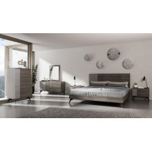 Nova Domus Palermo Italian Modern Faux Concrete & Grey Bed