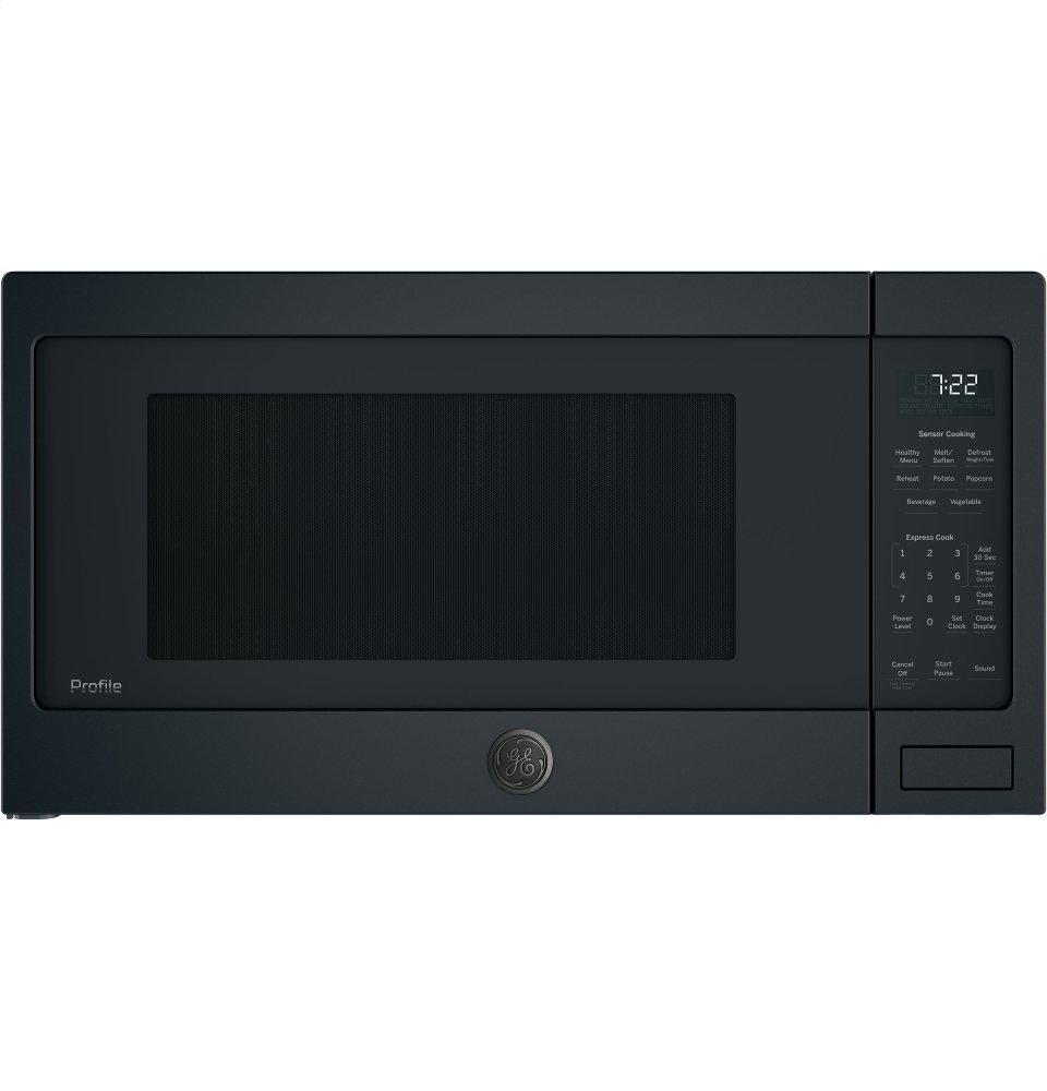 GE Profile(TM) Series 2.2 Cu. Ft. Countertop Sensor Microwave Oven  BLACK SLATE