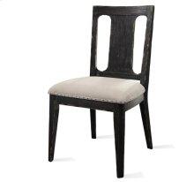 Bellagio Side Chair Weathered Worn Black finish