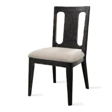 Bellagio Side Chair Weathered Worn Black finish