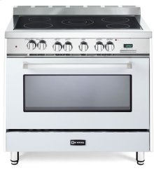 "White 36"" Electric Single Oven Range"