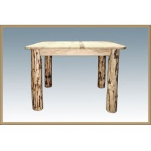 Montana Log 4 Post Square Dining Table
